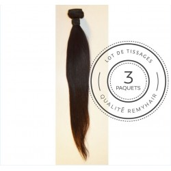 "3 PAQUETS - TISSAGE BRESILIEN raide taille 20"" REMYHAIR"
